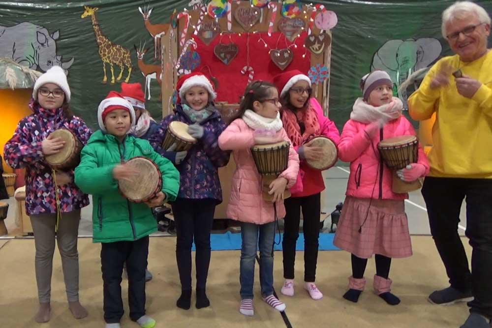 Wir trommeln frohe Weihnachten